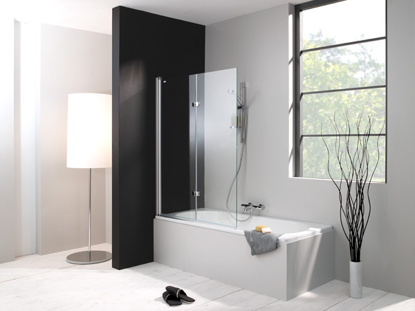 duschabtrennung badewanne glas kunststoff. Black Bedroom Furniture Sets. Home Design Ideas