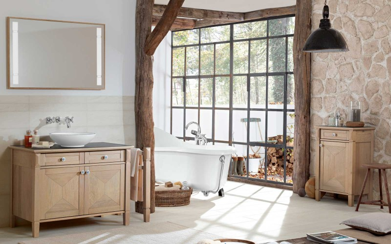 Bäder Im Landhausstil villeroy boch true oak die edle eiche im bad my lovely bath